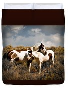 Wild Horses Mother And Child Duvet Cover