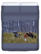Wild Horses Of The Ghost Forest Duvet Cover
