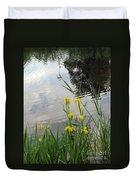 Wild Iris By The Pond Duvet Cover by Ausra Huntington nee Paulauskaite