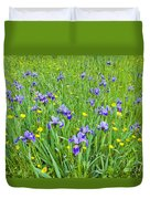 Wild Iris Patch Duvet Cover