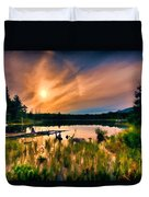 Wild Maine Woods In Baxter State Park Duvet Cover
