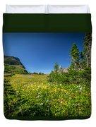 Wild Mountain Flowers Glacier National Park   Duvet Cover by Rich Franco