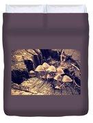 Wild Mushrooms Duvet Cover by Amanda Elwell