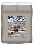 Wild Nevada Mustangs 2 Duvet Cover