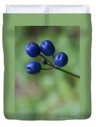 Wild New Hampshire Bluebead Lily Duvet Cover