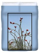 Wild Ocotillo In Bloom Duvet Cover