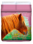 Wild Pony Abstract Duvet Cover