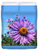 Wild Purple Aster Duvet Cover