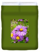 Wild Purple Asters Duvet Cover