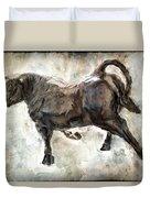 Wild Raging Bull Duvet Cover