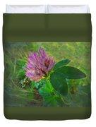 Wild Red Clover Blossom Duvet Cover