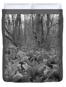 Wild Skunk Cabbage Bw Duvet Cover