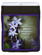 Wild Star Flowers And Innocence  Duvet Cover