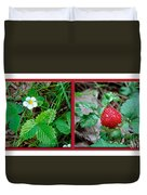 Wild Strawberry Plant - Fragaria Virginiana Duvet Cover