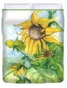 Wild Sunflowers Duvet Cover by Sherry Harradence