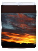 Wild Sunrise Over The Mountains Duvet Cover
