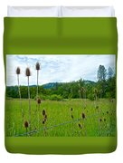 Wild Teasel In Nez Perce National Historical Park-id- Duvet Cover