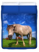 Wild Young Horse On The Field Duvet Cover