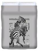 Wild Zebras Duvet Cover