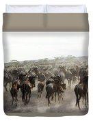 Wildebeest Migration  Duvet Cover