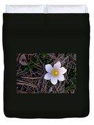 Wildflower Among Pine Needles Duvet Cover