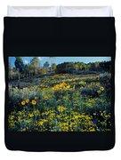 Wildflower Hillside Duvet Cover