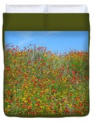Wildflowers And Sky 2am-110541 Duvet Cover
