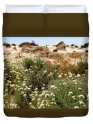 Wildflowers At Mungo National Park Duvet Cover