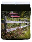 Wildflowers At The Fence Duvet Cover