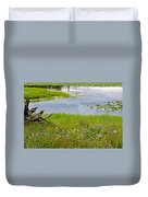 Wildflowers By Heron Pond In Grand Teton National Park-wyoming Duvet Cover