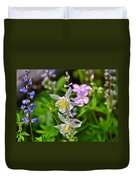 Wildflowers Greeting Card Duvet Cover