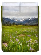 Wildflowers In Rocky Mountain National Park Duvet Cover