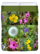 Wildflowers Mosaic Duvet Cover