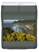Wildflowers On An Atypical Winter's Day On The Oregon Coast Duvet Cover