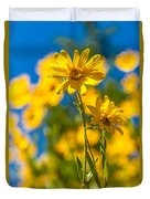 Wildflowers Standing Out Duvet Cover
