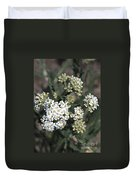 Wildflowers - White Yarrow Duvet Cover