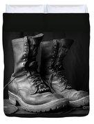 Wildland Fire Boots Still Life Duvet Cover