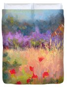 Wildrain Retreat - Lavender And Poppies Duvet Cover