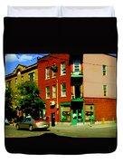 Wilenskys Famous Light Lunch Diner Corner Clark And Fairmount Montreal City Scene Carole Spandau Duvet Cover