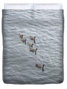 Willamette River Ducks Duvet Cover