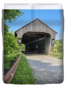 Willard Covered Bridge North Hartland Vermont Duvet Cover