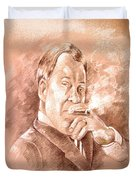 William Shatner As Denny Crane In Boston Legal Duvet Cover