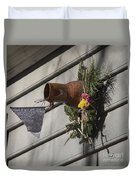 Williamsburg Bird Bottle 1 Duvet Cover by Teresa Mucha