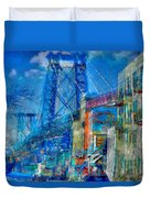 Williamsburg Street Abstract Duvet Cover