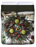 Williamsburg Wreath Squared Duvet Cover