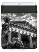 Williamson County Courthouse Bw Duvet Cover