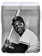 Willie Mays Painting Duvet Cover