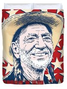 Willie Nelson Pop Art Duvet Cover