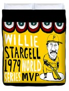 Willie Stargell Pittsburgh Pirates Duvet Cover by Jay Perkins