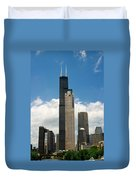 Willis Tower Aka Sears Tower Duvet Cover by Adam Romanowicz